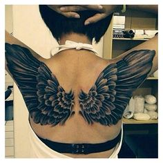 20+ Amazing Wings Tattoos for Women and Girls Tattoos for Women ❤ liked on Polyvore featuring tattoos