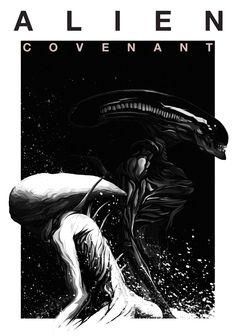 Century Fox Australia's Alien: Covenant poster competition. Alien Film, Alien 1979, Alien Art, Best Movie Posters, Movie Poster Art, Poster Series, Alien Covenant, The Covenant, Hr Giger Alien