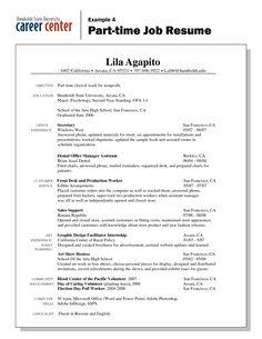 Job Part Time Resume Example #939 - http://topresume.info/2014/12/14/job-part-time-resume-example-939/