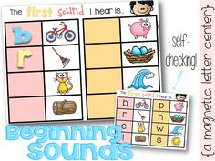Learn & practice beginning sounds with magnetic letters. Perfect for the beginning of the year K.