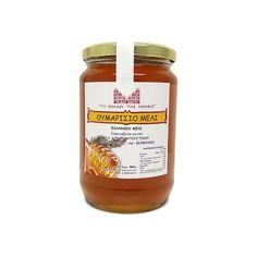 ΤΟ ΚΕΛΑΡΙ ΤΗΣ ΜΟΝΗΣ -  Μέλι Θυμαρίσιο -960gr. Αγνό, μη νοθευμένο μέλι από την Ιερά Μονή των Αγίων Αυγουστίνου και Σεραφείμ του Σαρώφ, που βρίσκεται λίγο έξω από το χωριό Τρίκορφο του νομού Φωκίδος. Salsa, Honey, Jar, Food, Eten, Jars, Meals, Salsa Music, Drinkware