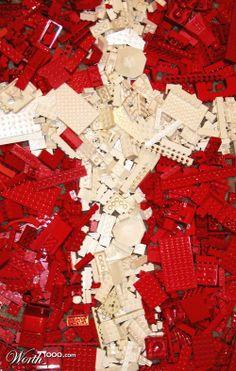 LEGO pieces representing the Danish flag! http://ow.ly/uPOG7  #danishdesign #denmark