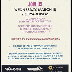 Donation yoga event in Highlands Ranch. #corepoweryoga #yoga #wholefoods #denver