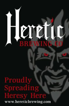 Poster design by Charlie Essers for Heretic Brewing Co.