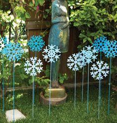 Garden Decor Ideas Plasma Cutter Snowflakes For The Winter Christmas Garden,  Christmas Crafts, Xmas