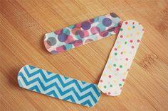 DIY washi tape band-aids - so cool!
