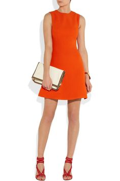 Victoria Beckham | Silk and wool-blend mini dress