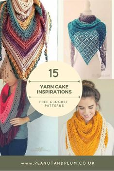Crochet Poncho Yarn Cake Inspirations – Free crochet patterns - yarn cake inspirations free patterns, crochet projects, spring accessories designed-by-peanut-and-plum Caron Cakes Crochet, Crochet Cake, Free Crochet, Knit Crochet, Crochet Scarves, Crochet Mittens, Caron Cakes Patterns, Shawl Patterns, Crochet Scarf Patterns