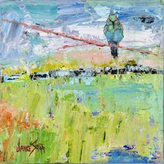 Hummingbird In A Blue Sky by Janice Sugg