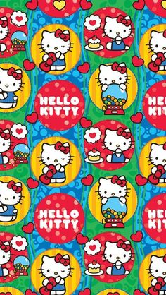 HK #wallpaper Hello Kitty Backgrounds, Hello Kitty Wallpaper, Little Twin Stars, Sanrio Wallpaper, Iphone Wallpaper, Hello Kitty Pictures, Hello Kitty Collection, Sanrio Hello Kitty, Cat Party