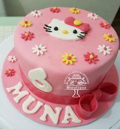 Hello Kitty Cake #HelloKitty #Pink #Cake #ButterCake #Fondant #Decorations #AllEdible #FarooZsBoutique