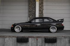 BMW e36 coupe on awesome M-technica turbo wheels