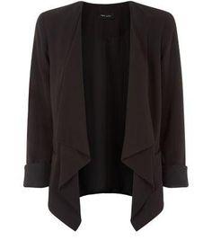 New Look Black Waterfall Blazer #jacket #covetme