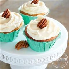 Brown Butter-Pecan Cupcakes with Cream Cheese Frosting
