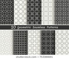 Similar Images, Stock Photos & Vectors of Triangle geometric vector pattern,pattern fills, web page, background, surface and textures - 708272218 | Shutterstock Geometric Patterns, Geometric Tattoo Pattern, Arabic Pattern, Line Background, Black And White Lines, Vector Pattern, Wallpaper, Banners, Printing On Fabric