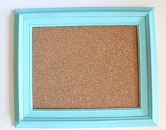 Reclaimed Frame Cork Board Tutorial