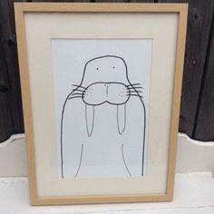 Kinderbild Seelöwe Zeichnung schwarz weiß