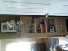 Shelves in the Master BR.  It's an old cupboard.  They need to be painted black and must be staged!