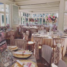 Vintage nude chiffon ruffle chair hoods and sequin linen. Set-up by Ellis Events.