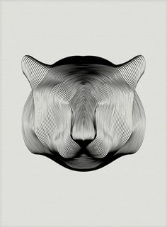 Animals in Moiré – Vector Illustrations by Andrea Minini This series is amazing! Illustrator and designer Andrea Minini created a series of black and white animal vector illustrations from simple line. Illustration Vector, Pattern Illustration, Graphic Design Illustration, Arte Bob Marley, Graphisches Design, Line Design, Beautiful Series, Colossal Art, Pattern Images