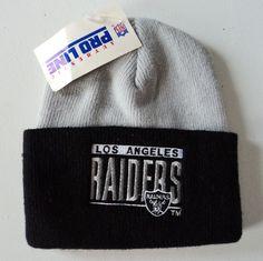 Vintage Los Angeles Raiders Beanie NFL VTG by StreetwearAndVintage on Etsy 4272c6288a81