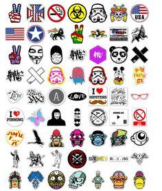 Custom Sticker Printing, Custom Stickers, Supreme Wallpaper Hd, Rock Band Posters, Graffiti Doodles, Eye Illustration, Bike Stickers, Tattoo T Shirts, Cute Patches