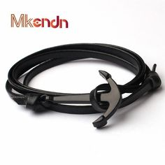 Anchor Bracelets Leather New Multilayer Miansai Bracelet Retro Tom Hope Ethcic Pulseras Ancla Navy Hand