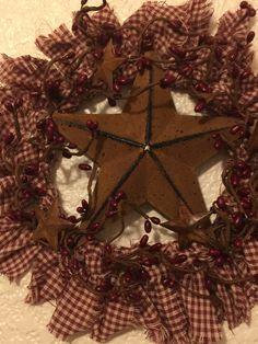 Persistent verified country home decor farmhouse Primitive Wreath, Primitive Crafts, Country Primitive, Country Sampler, Country Wreaths, Country Crafts, Rustic Wreaths, Christmas Wreaths, Christmas Decorations