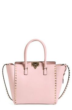 Valentino 'Rockstud' Double Handle Leather Shopper | Nordstrom