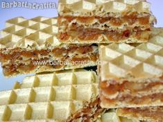 Napolitane cu crema caramel