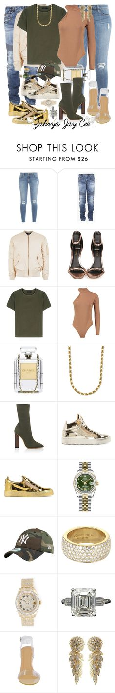 """""""Too Much Sauce"""" by sphereoflightmovement ❤ liked on Polyvore featuring Frame Denim, Balmain, Topman, Liliana, Calvin Klein Collection, Chanel, adidas Originals, Giuseppe Zanotti, Rolex and Cartier"""