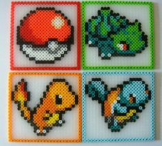 Pokemon Coasters Set of 4 by iaacp on Etsy, $16.00