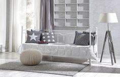SOFIE-levitettävä sohvasänky taittopatjalla, valkoinen