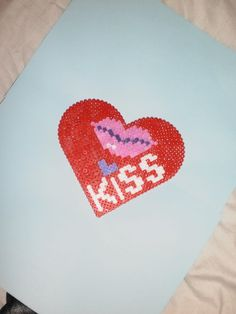 Love heart hama perler by creations-differente - skyrock