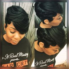 27 Piece Quickweave Black Hairstyles Black Hair Short Hair images ideas from Amazing Hairstyles Ideas Black Hair Hairstyles, Short 27 Piece Hairstyles, Short Quick Weave Hairstyles, Sew In Hairstyles, My Hairstyle, Long Bob Hairstyles, Braided Hairstyles, Wedding Hairstyles, Short Quick Weave Styles