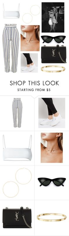 """""""Untitled #447"""" by allgoodbabybaby ❤ liked on Polyvore featuring Topshop, Superga, Ack, Kenneth Jay Lane and Yves Saint Laurent"""