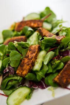 salat mit würztofu