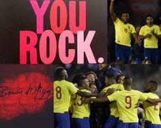 Gracias #Ecuador, con garra y esfuerzo se logra las cosas!!!! #YouRock...Att #BosóndHiggs