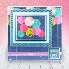 Card created using Hunkydory Crafts' Let's Celebrate Topper Set