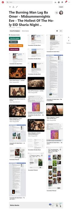 Screenshot: Pinterest Saturday Morning, Sunday, Burning Man, Tofu, Burns, Pray, Trainers, Singing, King