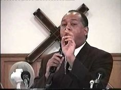 Dr Gerald Jeffers Preaching During His Time In England At Gibson Road Church