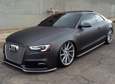 Image viaAudi viaVisit The MACHINE Shop Café. ❤ Best of Audi @ MACHINE. ❤ (Brutal Audi Coupé Supercar)Image viaquestion this product is a car that will dri Audi S5, Audi 2017, Black Audi, Matte Black, Black Cars, Taxi Moto, Audi Rs6 Avant, Moto Design, Carros Audi