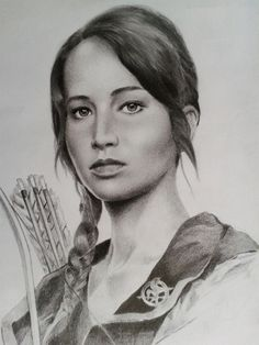 Amazing Katniss drawing! Incredible! Wish I could draw like that...