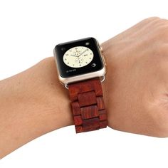 to Compatible for Apple Watch Material:Natural Ebony Offer protection for your watch from vibration, scratches, compact, durable & All versions supported for Apple Watch, including for Sport Watch. Apple Watch Accessories, Apple Watch Bands 42mm, Digital Technology, Apple Watch Series, Square Watch, Sport Watches, Handmade Wooden, Stylish, Series 4