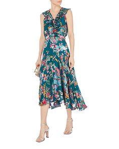 Saloni Rita floral printed midi dress
