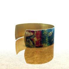 Bracelets for Women - Vintage Brass Bracelet - Metal Bracelet - French Vintage Cuff - Historical Jewelry - Medieval Jewelry