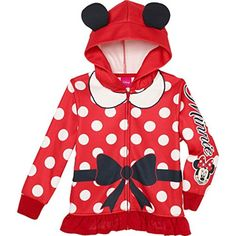 Princess Little Girls' Zip-Up Fleece Hoodie With Mesh Mask, 6, Minnie Mouse - Brought to you by Avarsha.com