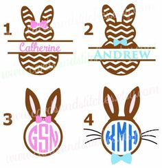 Easter Decal - Easter Bunny Decal - Vinyl Decal - Easter Monogram - Yeti Decal OR Bunny Iron-on - Easter Iron-on - DIY Iron-on Transfer by cardsandstitches on Etsy