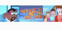 New Kids On The Block cartoon. I got up early to watch :)