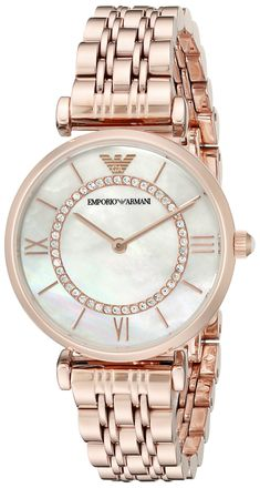 Emporio Armani Womens Retro Rose Gold Watch >>> You can get more details by clicking on the image. (This is an affiliate link) 21st Gifts, Michael Kors Watch, Emporio Armani, Gold Watch, Quartz, Rose Gold, Display, Bar, Watches